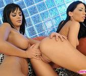 Pussy Licking with Mya Diamond and Black Angelika 6