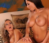Lesbian Sex with Candy Strong and Angie Angel 12