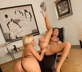 Horny Lesbians Adriana Russo & Candy Strong 7