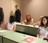 Jasmin, Katy, Angell & Melyssa Enslaved and Fucked in Class 17