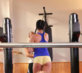 Double Ended Dildo Delights - Lesbians X-Rated Gym Routine 2