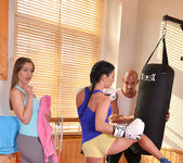 Double Ended Dildo Delights - Lesbians X-Rated Gym Routine 3