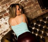 candice collyer - Candice Red Leather - Skin Tight Glamour 3