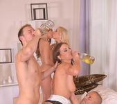 Hardcore Orgy On NYE: Guzzling Bubbly Through Tight Pussies! 10