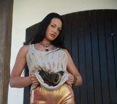 Tori W - Tori Gold Leggings - Skin Tight Glamour 3