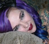 Nude & Tattooed Metalhead Punk Babe Kandy 7