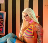 Beyond busty Lolly gets naked in an arcade - Lolly Ink 4