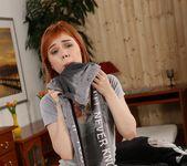 Dildo play for piss loving redhead Kira Roller 6