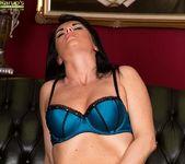 Curvy mature babe Danielle Leah Raven spread on the sofa 5