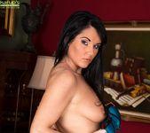 Curvy mature babe Danielle Leah Raven spread on the sofa 7