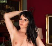 Curvy mature babe Danielle Leah Raven spread on the sofa 8