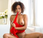 Noel Monique Strips Out Of Her Cute, Transparent Dress 6