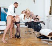 Secretaries Misha Cross and Carmel Andersson in anal 3way 15