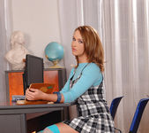 Private Tutoring Session Turns Into Schoolgirl Foot Fuck! 2
