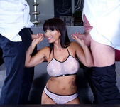 Catalina plays with 2 dicks and gets fucked well threesome 6