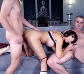 Catalina plays with 2 dicks and gets fucked well threesome 12