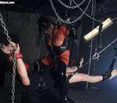 Jasmine Black in a dungeon fucking her sex slave well 9