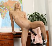 Sexy blonde Lola Shine pees her panties and plays 11