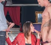 Biker chick Anna Polina enjoys threesome & DP - Private 4