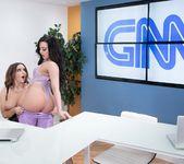 Whitney Wright, Natasha Nice - Lesbian News Anchors 7