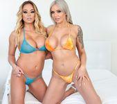Nina & Mia Share BJ, Swap Cum Kisses - Evil Angel 3