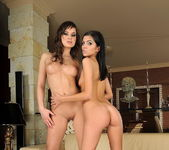 Abbie Cat & Pure Angel Playing Lesbians - Lezbo Honeys 5