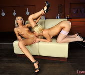 Dominique & Blond Cat Toying Lesbians - Lezbo Honeys 7