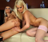 Dominique & Blond Cat Toying Lesbians - Lezbo Honeys 9