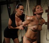 Szilvia Lauren & Mandy Bright Lesbian BDSM - Mighty Mistress 14