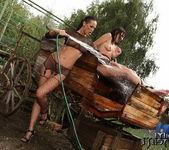 Mandy Bright & Samy Omidee Lesbian Slave - Mighty Mistress 9