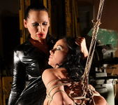 Mandy Bright and Clarisse Lesbian Slave - Mighty Mistress 11