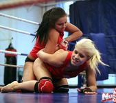Brandy Smile & Lioness - Lesbian Wrestling - Nude Fight Club 8