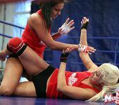 Brandy Smile & Lioness - Lesbian Wrestling - Nude Fight Club 9