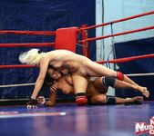 Brandy Smile & Lioness - Lesbian Wrestling - Nude Fight Club 13