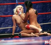 Brandy Smile & Lioness - Lesbian Wrestling - Nude Fight Club 14