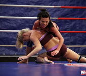 Ally & Melane - Wrestling Girls - Nude Fight Club 2