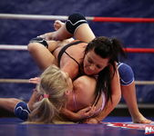 Ally & Melane - Wrestling Girls - Nude Fight Club 3