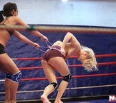 Ally & Melane - Wrestling Girls - Nude Fight Club 7