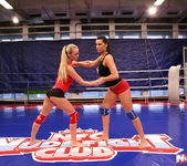 Dorina Gold & Melissa Ria - Girl on Girl - Nude Fight Club 3