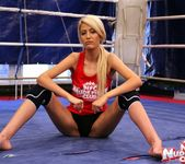 Antonya & Blanche - Lesbian Wrestling - Nude Fight Club 2
