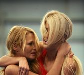 Antonya & Blanche - Lesbian Wrestling - Nude Fight Club 6