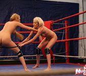 Antonya & Blanche - Lesbian Wrestling - Nude Fight Club 13
