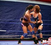 Bellina & Rihanna Samuel - Wrestling Girls - Nude Fight Club 3