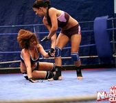 Bellina & Rihanna Samuel - Wrestling Girls - Nude Fight Club 4