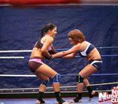 Bellina & Rihanna Samuel - Wrestling Girls - Nude Fight Club 5