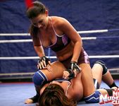 Bellina & Rihanna Samuel - Wrestling Girls - Nude Fight Club 8