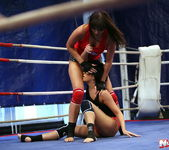 Rosee & Nilla - Wrestling Girls - Nude Fight Club 7