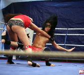 Rosee & Nilla - Wrestling Girls - Nude Fight Club 11
