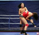 Rosee & Nilla - Wrestling Girls - Nude Fight Club 13