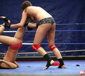 Rosee & Nilla - Wrestling Girls - Nude Fight Club 16
